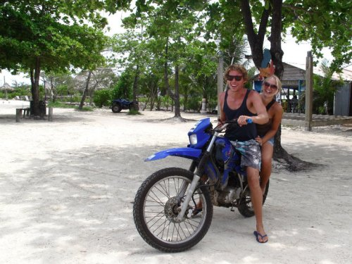 renting a motorbike, Utila