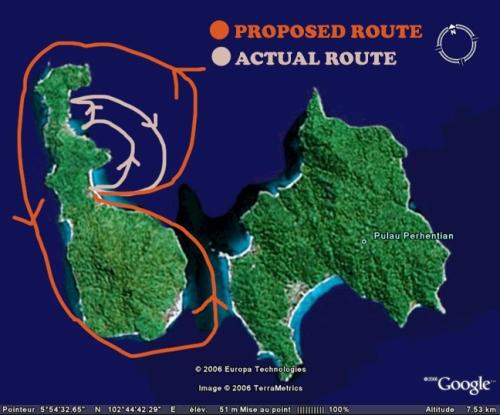 perhentian map
